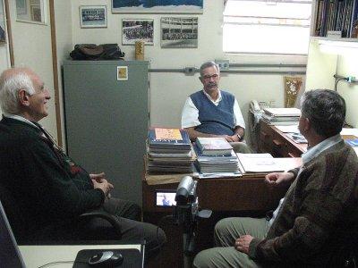 """Making of de entrevista do Prof. Dr. Durval para o Projeto 75x75. Os entrevistadores são o Prof. Dr. José Carlos Sebe e o Prof. Dr. <span class=""""\""""contentpagetitle\"""""""">Dante Marcello Claramonte Gallian</span>."""